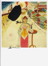 Kunstpostkarte Bauhaus - Wassily Kandinsky: Dame in Moskau