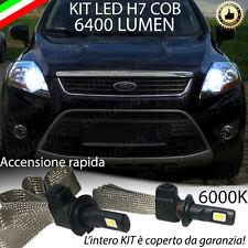 KIT FULL LED FORD KUGA MK1 LAMPADE LED H7 6000K BIANCO NO ERROR 6400lm
