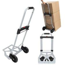 Portable Folding Hand Truck Dolly Luggage Carts, Silver, 220 lbs RCAI 09