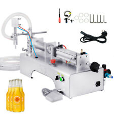 More details for pneumatic liquid filling machine for shampoo,oil,water perfume 100-1000ml new