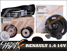 Genuine RENAULT 1.6 16V Dephaser Pulley + Timing Belt Kit + 2 x Core Plugs