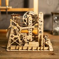 Robotime Laser-Cut 3D Wooden Puzzle Marble Run Game Model Kits Lift Coaster  Toy