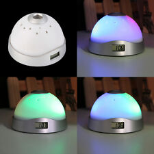 Alarm Clock Digital LED Star Colorful Magic Flash Light Time Projection XC