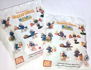 McDonald's 1996 Smurf Series Rare Vintage PVC Smurfs New in Original Bag
