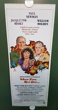 1980 WHEN TIME RAN OUT Original Insert Poster Paul Newman Jacqueline Bisset