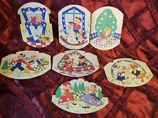 Set of 7 Vintage French Children's sewing Cards. Lovely Graphics