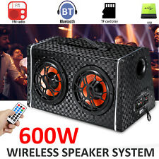 600W Portable Wireless Bluetooth Car Speaker Stereo Bass Subwoofer Boombox