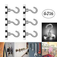 10/20Pcs 8KG Heavy Duty Magnetic Hooks Hanger Hold Neodymium Strong Magnet