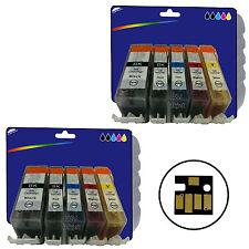 Ogni 10 INCHIOSTRI PER CANON IP4950 iX6250 MG5200 MG6150 MG6250 MX885 NON-OEM 525/6