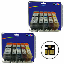 Les encres 10 Pour Canon IP4950 IX6250 MG5200 mg6150 mg6250 MX885 non-OEM 525/6