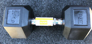 🔥Fast Ship! CAP 30 Lb Single Dumbbell Rubber Coated Hex-NEW