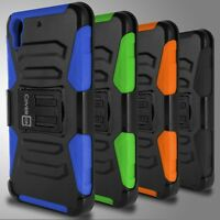Heavy Duty Combo Holster Belt Clip Phone Cover Case for HTC Desire 626 / 626S