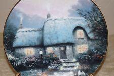 "1991 Thomas Kinkade collectible plate ""Candlelit Cottage"" #7478C original box"
