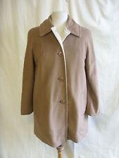 Damen Jacke-veloura, Größe 8 US, UK 12, braun/beige fleecey Mantel, kuschelig - 7669