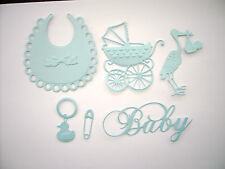 Pearlescent Baby Boy Die Cut Card Toppers