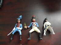 Lot of 3 Vintage Lead Army Horse Rider Soldier Figurines LOOK