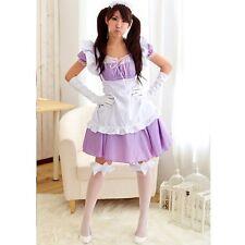 Kawaii Maid Cafe Lavender Purple Lace Anime Cosplay Costume USED