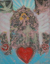 "Original Painting Titled "" Corazon "" By Known Artist Anton Haardt Signed"