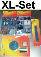 XL SEWING SET NEEDLE PATTERN WHEEL MEASURING TAPE SEWING YARN TOUCH FASTENER