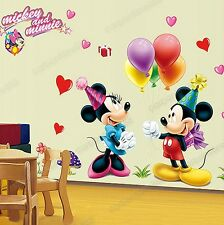 Disney MICKEY MINNIE MOUSE Balloons Party Wall Stickers Kids Childs Room Decors