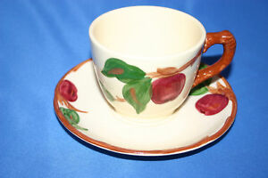 2 Franciscan China Apple Cups & Saucers USA Vintage