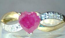 RUBY & DIAMOND RING 10K Y/G 1.06 CTW * FREE SHIPPING*