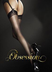Stockings with Seams, 20 Den in Black, White, Tan / Nude & Cappucino S, M or L