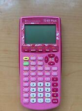 Texas Instruments TI 83 plus Pink Calculatrice Calculator