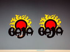 2 - Baja boat decals marine vinyl Black baja decals 10 inch sun decal set