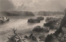 NEW BRUNSWICK. Reversing Falls, St John River. Indiantown. Canada. BARTLETT 1842
