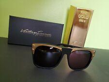NEW~Vintage Frames RUDE METAL Sunglasses by COREY SHAPIRO Black/Gold Retail $282