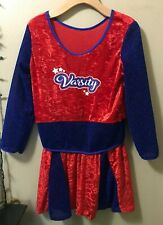 Forum Novelties Red/Blue Varsity Cheerleader Costume Dress Kid Child sz L