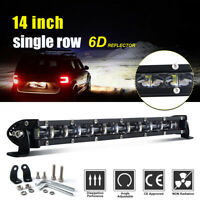 "14"" 618W LED phare de travail Feux rampe de toit barre de led offroad light bar"