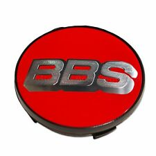 1x Genuine BBS Centre Cap, Red with Silver BBS Logo 70.6mm Nürburgring Edition