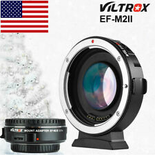 #US VILTROX EF-M2II AUTO FOCUS ADAPTER SPEED BOOSTER FOR CANON EF EOS to MFT M43