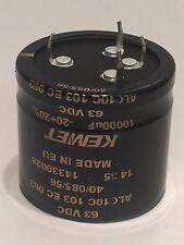 KEMET 10000UF 63V HIGH RIPPLE RADIAL ELECTROLYTIC CAPACITOR ALC10C103EC   ad2L34