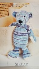 Sirdar Knitting Pattern #1457 Toy Bear to Knit in Snuggly Baby Crofter DK