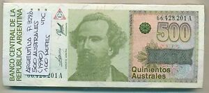 ARGENTINA BUNDLE 100 NOTES 500 AUSTRALES (1990) P 328b UNC