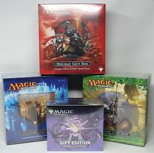 Ultimate MTG Holiday Gift Box Factory Sealed RTR, Theros, Khans, & Eldraine Lot!