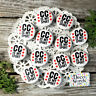 """12 Cross Country Sport Pin Badge 1 1/4"""" PINBACK party favor gift trade DecoWords"""