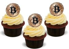 Bitcoin token Stand Up Premium Card Cake Toppers