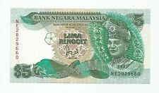 "MALAYSIA  RM5  Cross Flag Pole  First Prefix  NE_2829660  ""GEF"""