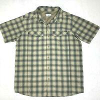 Columbia Omni Shade Shirt Men XL Sun Protection Fishing Button Up Short Sleeve