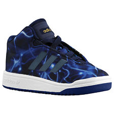 ADIDAS Veritas Mid I Toddler Shoes sz 6K 6 Blue White Nebula Galaxy Memory Foam