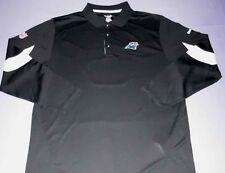 Carolina Panthers Horizon Sideline Polo Shirt XL Long Sleeve Reebok NFL