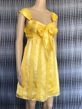 "**KENJI** BNWT $130 * Sz 10 Yellow ""Waterfall Stripe"" Occasion Silk Dress-(B159)"