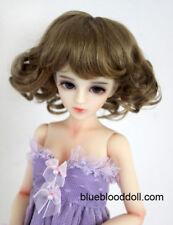 """1/4 bjd msd 7-8"""" doll head copper brown short wig Luts Iplehouse minifee W-JD164"""