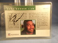 Kurt Barber-1992 PRO LINE CERTIFIED AUTOGRAPH-New York Jets-USC TROJANS