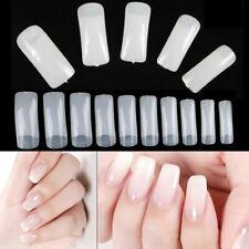 500PCS Natural Half Nail Art Acrylic Tips Artificial UV Gel False Nail UK Seller