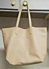 Cuyana Classic Structured Beige Leather Tote Bag